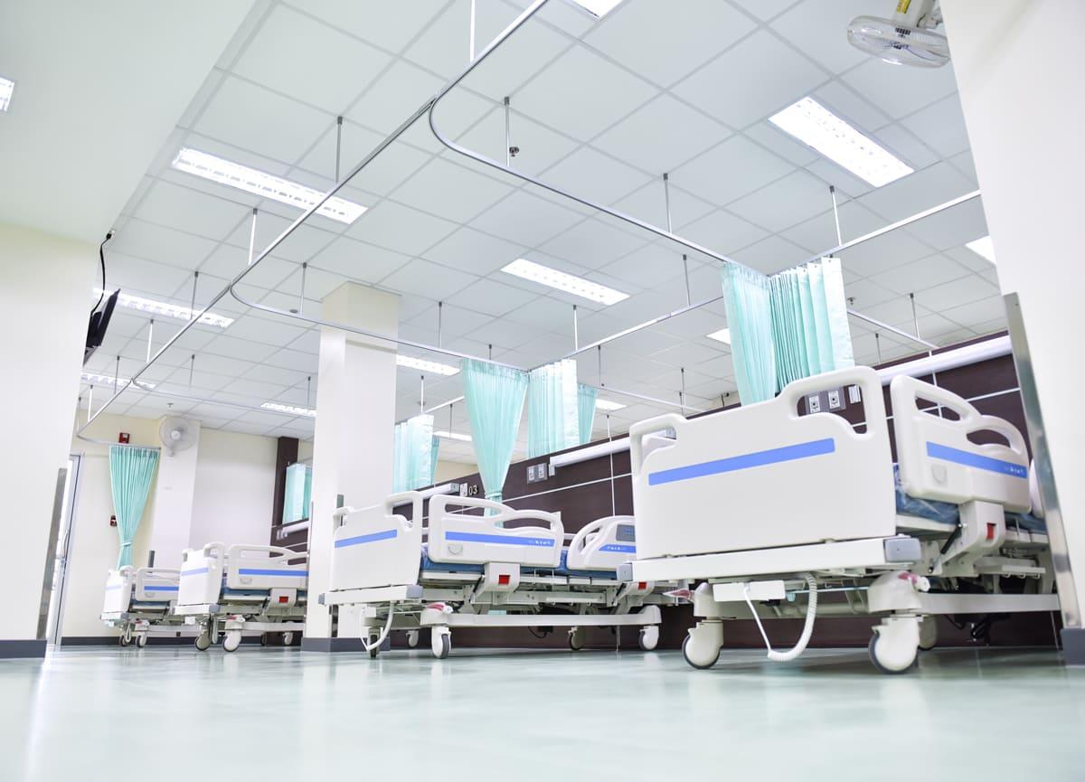 Beds in Hospital Ward