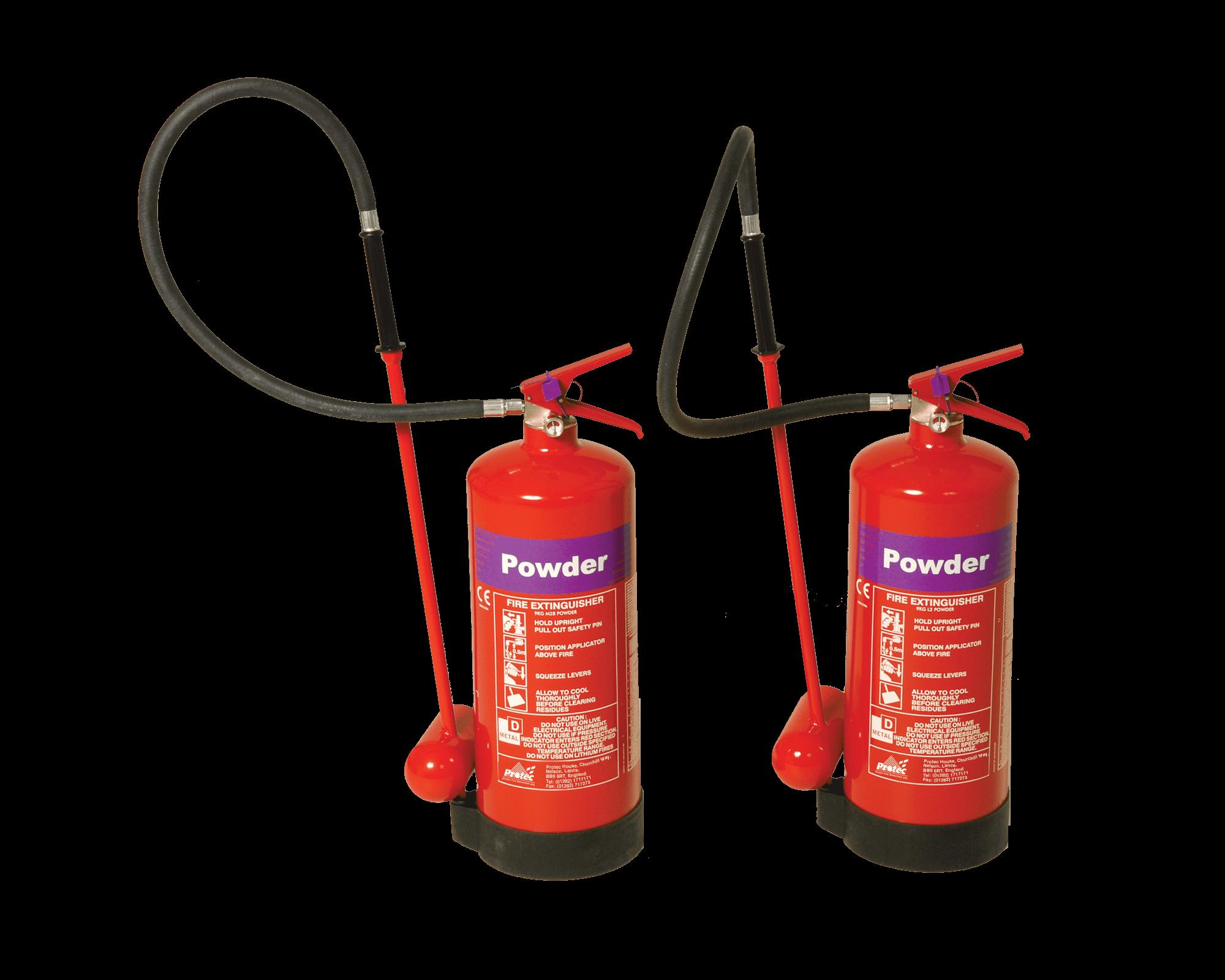 Lithium L2 and M28 Protec Powder Extinguishers