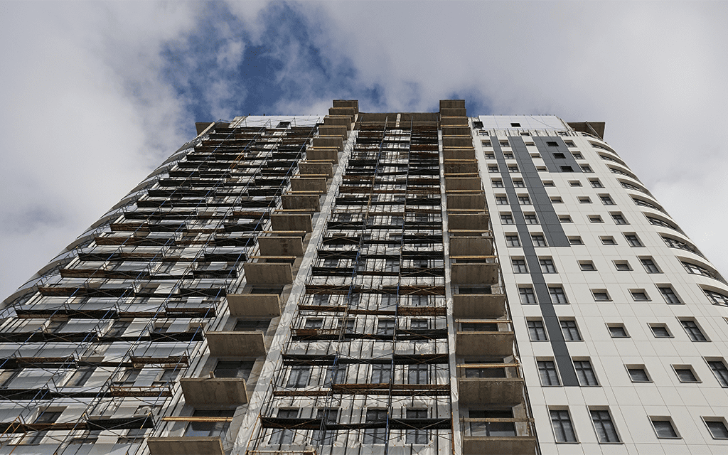 High rise building cladding