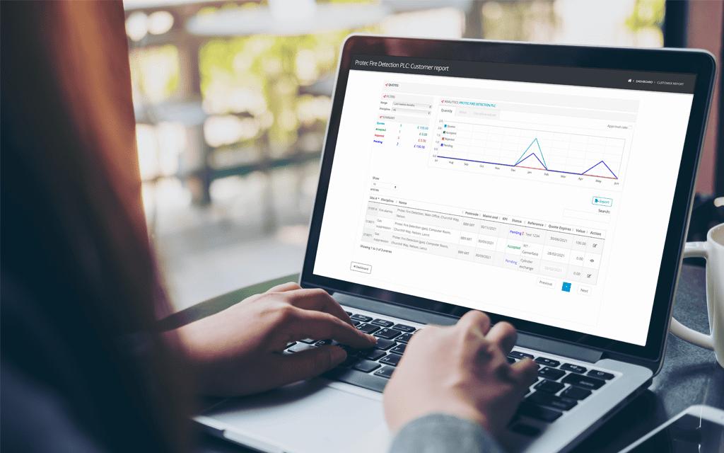 Customer Account Portal In Use